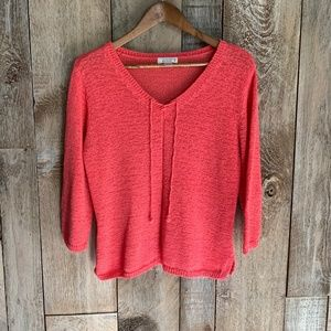 Christopher & Banks Coral Sweater Sz L